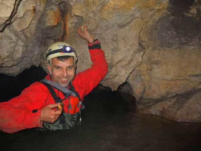 Boyan Petrov in cave