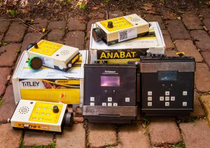 Equipment for mammal research: Anabats and Petterson D500X ultrasound recorders. Donated by Regelink Ecology and Landscape.