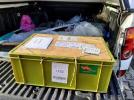 Traps of Dutch Mammal Society arrived (Photo: Mikhail Rusin)